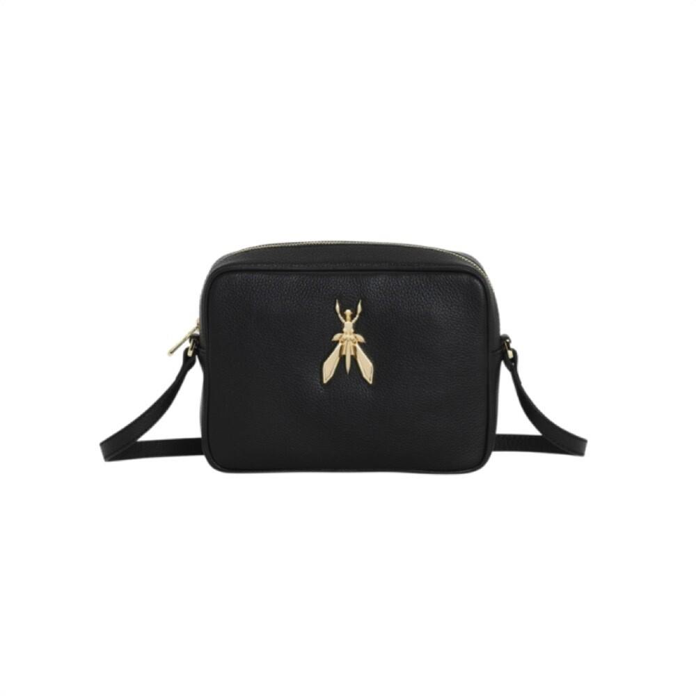 PATRIZIA PEPE - Camera Bag in pelle con maxi logo Fly - Nero