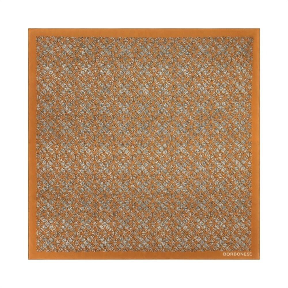BORBONESE - Foulard Pattern 90x90 - Marrone/OpNatural