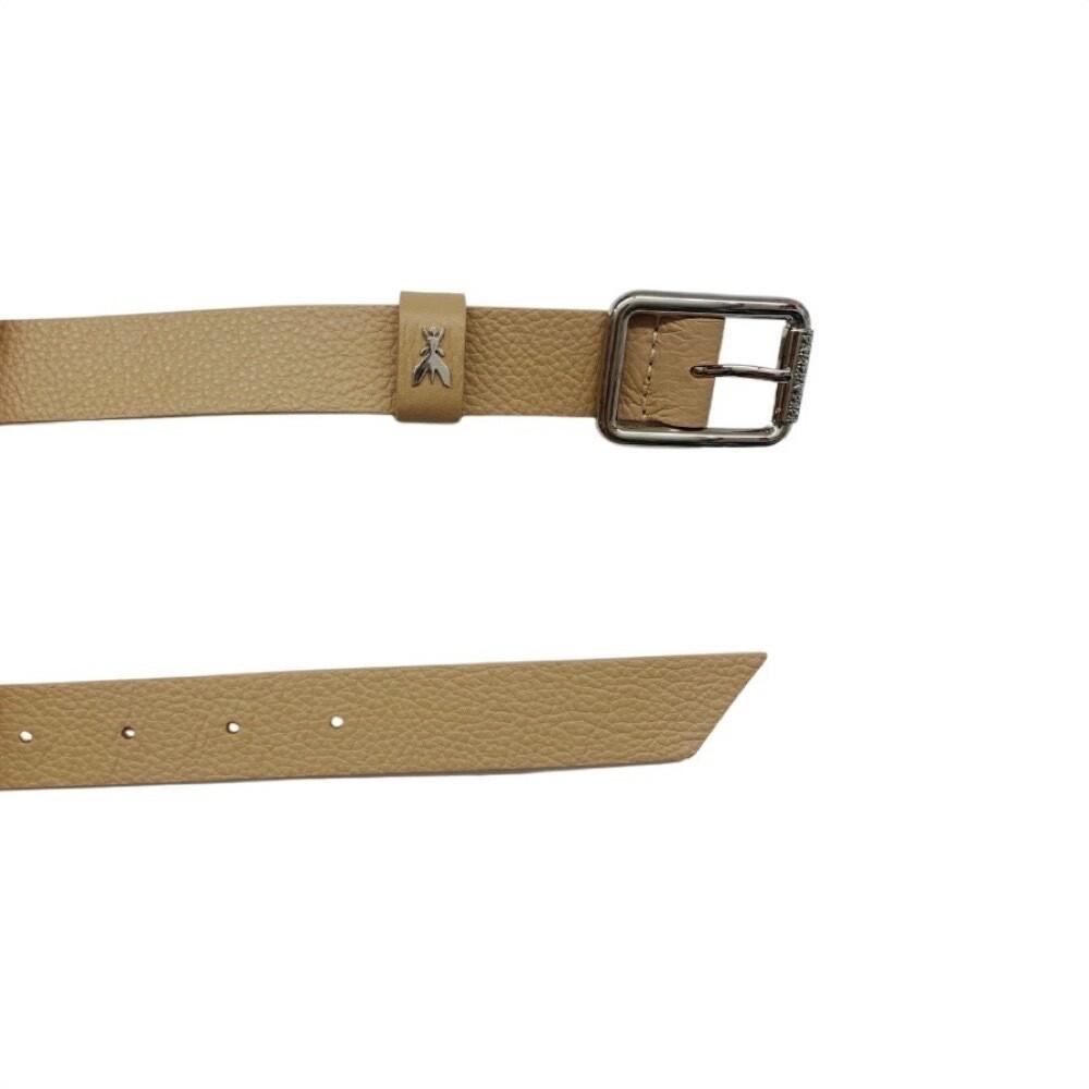 PATRIZIA PEPE - Cintura vita bassa in pelle martellata - Pompei Beige