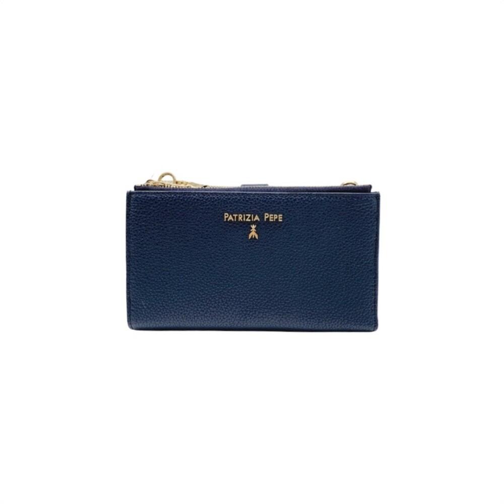 PATRIZIA PEPE - Portafoglio/Porta cellulare con tracolla - Dress Blue