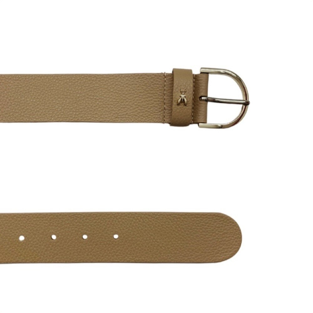 PATRIZIA PEPE - Cintura in pelle martellata - Pompei Beige