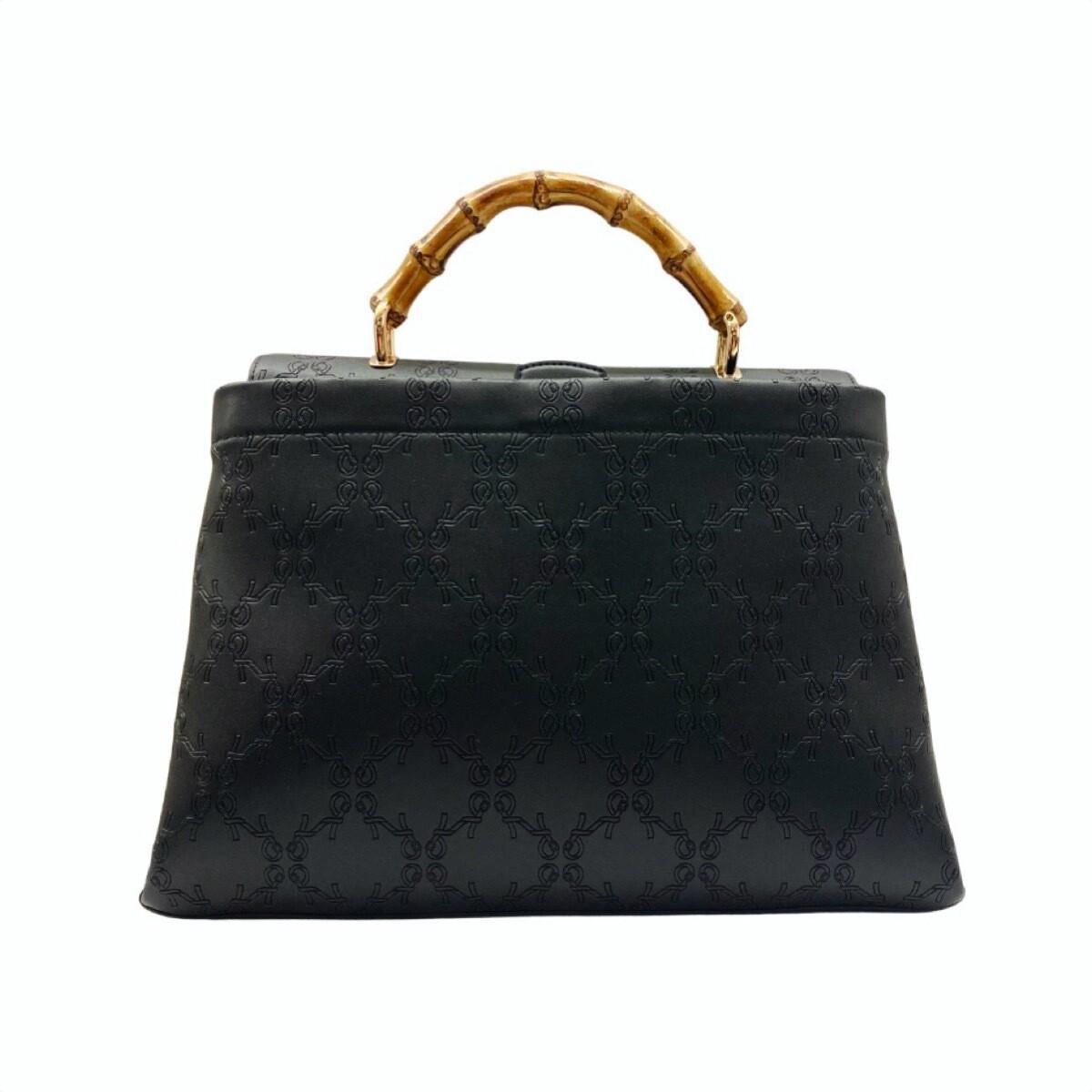ROBERTA DI CAMERINO - Bamboo Handbag L con tracolla - Black
