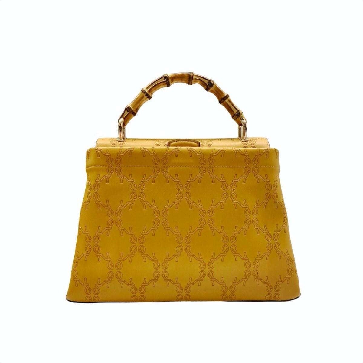 ROBERTA DI CAMERINO - Bamboo Handbag M con tracolla - Beige