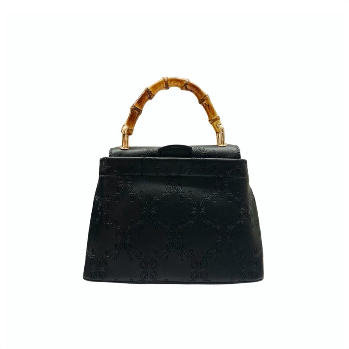 ROBERTA DI CAMERINO - Bamboo Handbag S con tracolla - Black