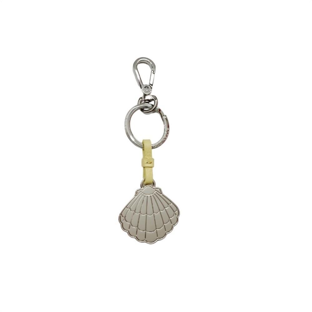 COCCINELLE - Conchiglia Portachiavi/Charm Basic Metal Nickel - Sorbet Yellow
