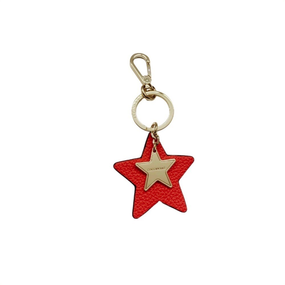COCCINELLE - Star Portachiavi/Charm - Coral Red