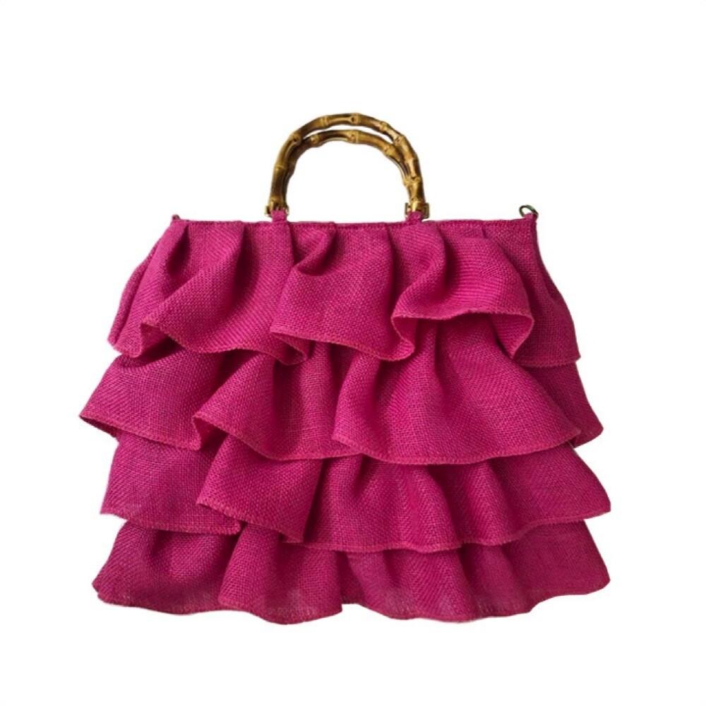 MIA BAG - Shopping Juta Balze Personalizzabile - Fuxia
