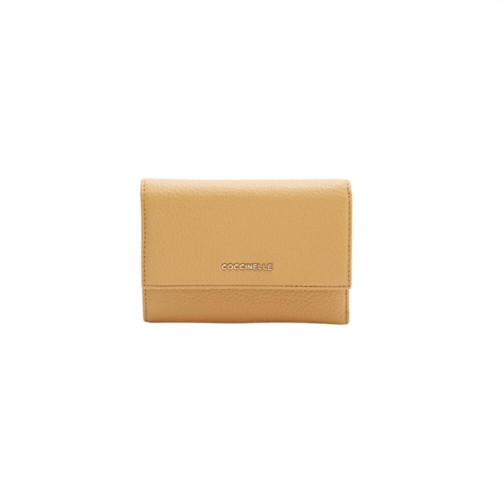 COCCINELLE - Metallic Soft Portafoglio Medio - Warm Beige