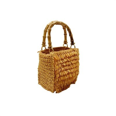 CHICA - Smeraldo Shopping Bag Piccola - Oro/Righe