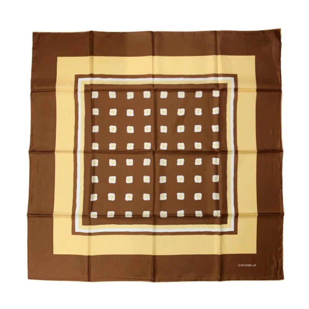 COCCINELLE - Tile Pattern Foulard 90x90 - Multi Caramel