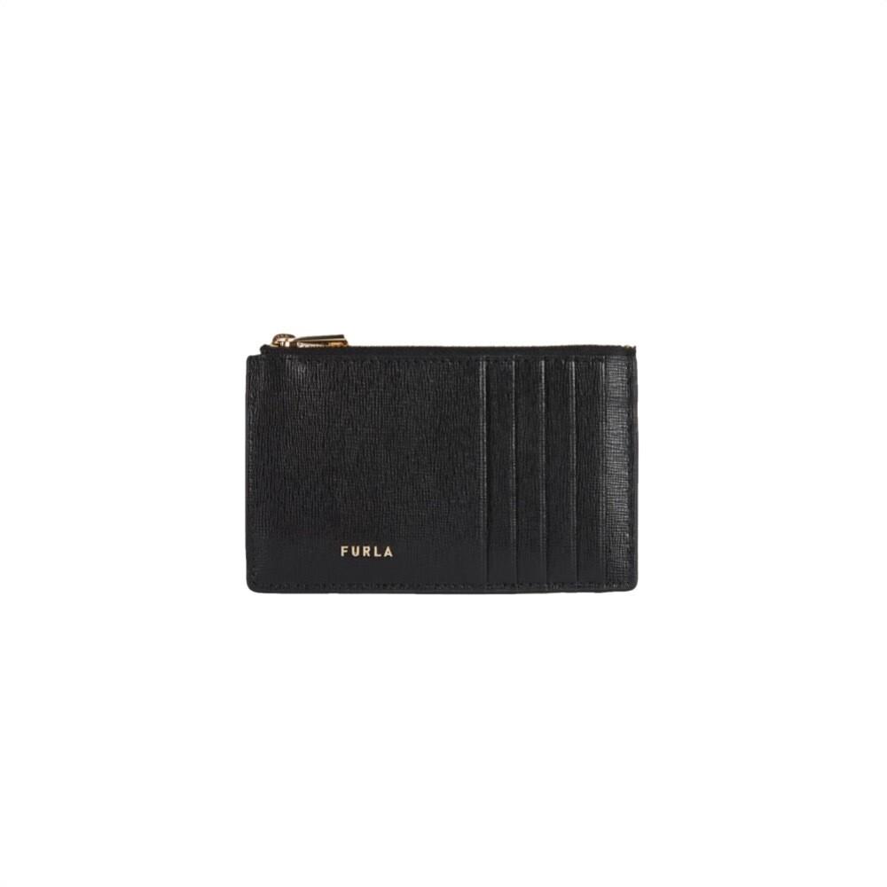 FURLA - Babylon M Card Case Saffiano - Nero