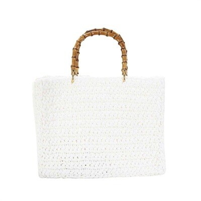 CHICA - Luna Shopping Bag - Bianco/Blu