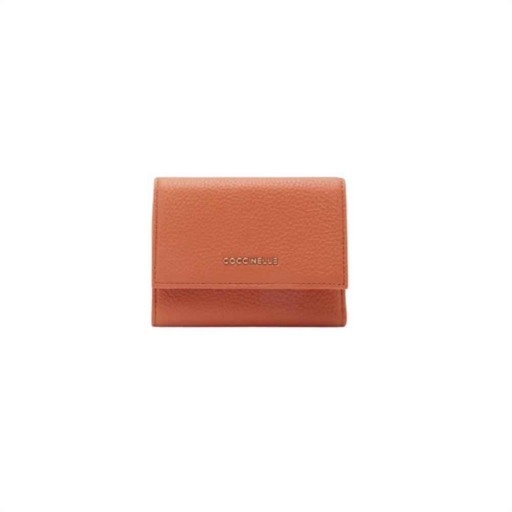 COCCINELLE - Metallic Soft Portafoglio medio - Chestnut