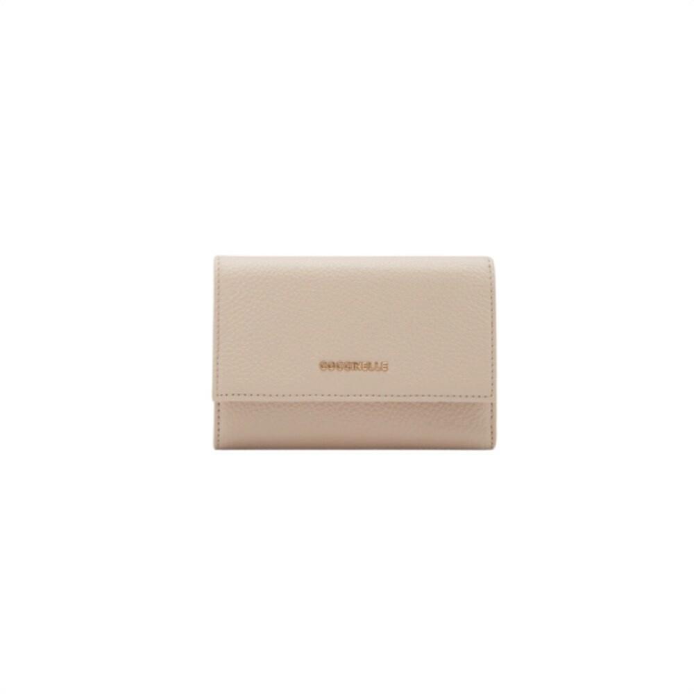 COCCINELLE - Metallic Soft Portafoglio Medio - Powder Pink