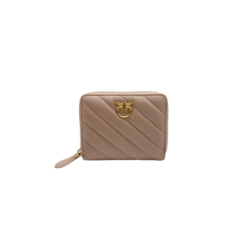 PINKO - Taylor Wallet Zip Around Quilt - Cipria