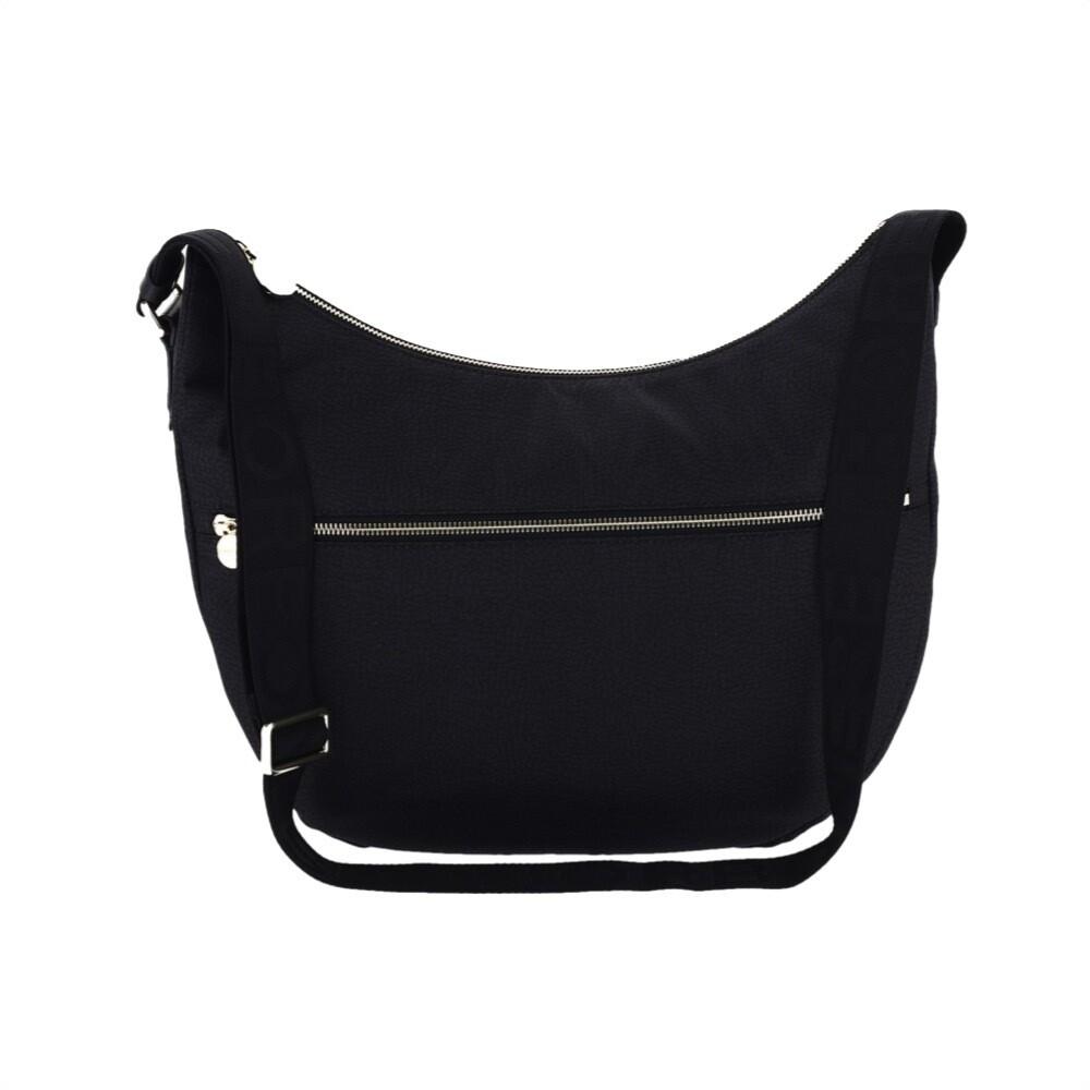 BORBONESE - Luna Bag Medium Nylon Riciclato OP con zip - Black