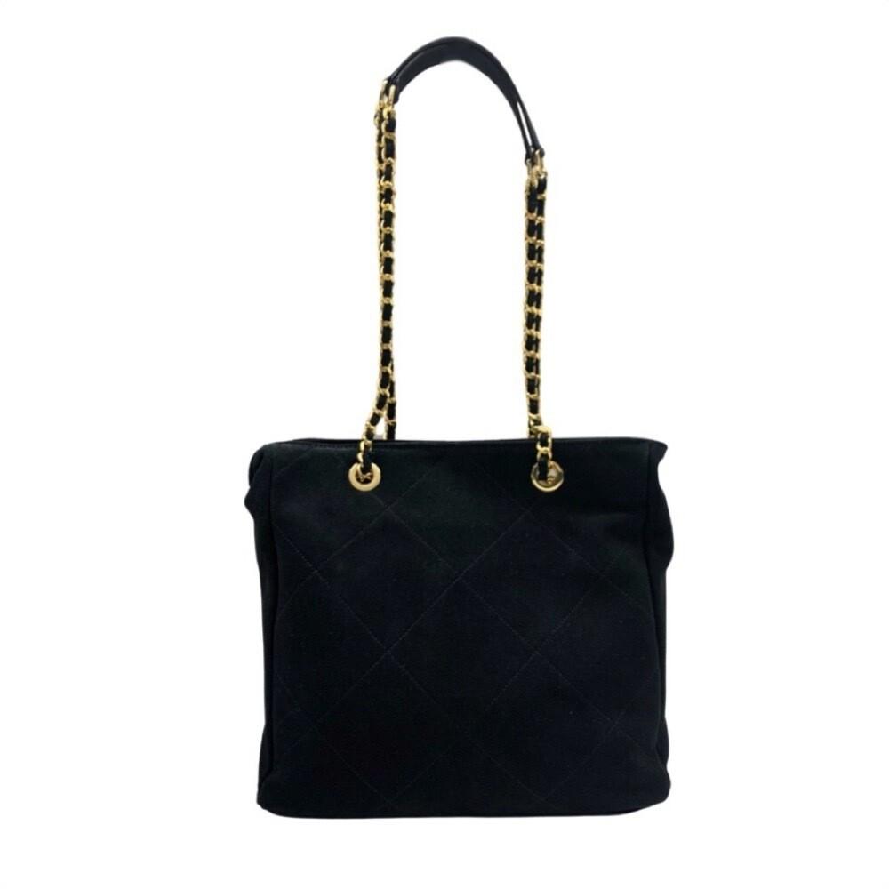 MIA BAG - Shopping Suede Maxi Trapuntatura Personalizzabile - Nero