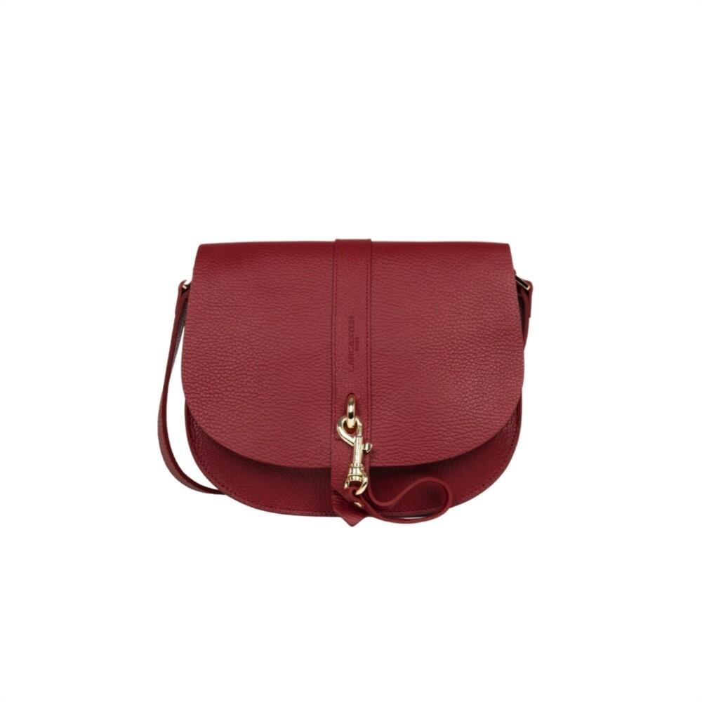 LANCASTER - Foulonné Double Hook Small Messenger Bag - Carmin in Blush
