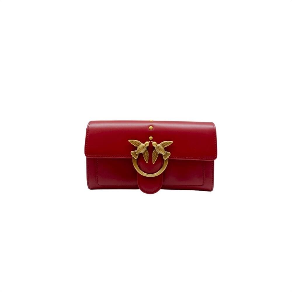 PINKO - Love Wallet Simply 5 - Dark Red