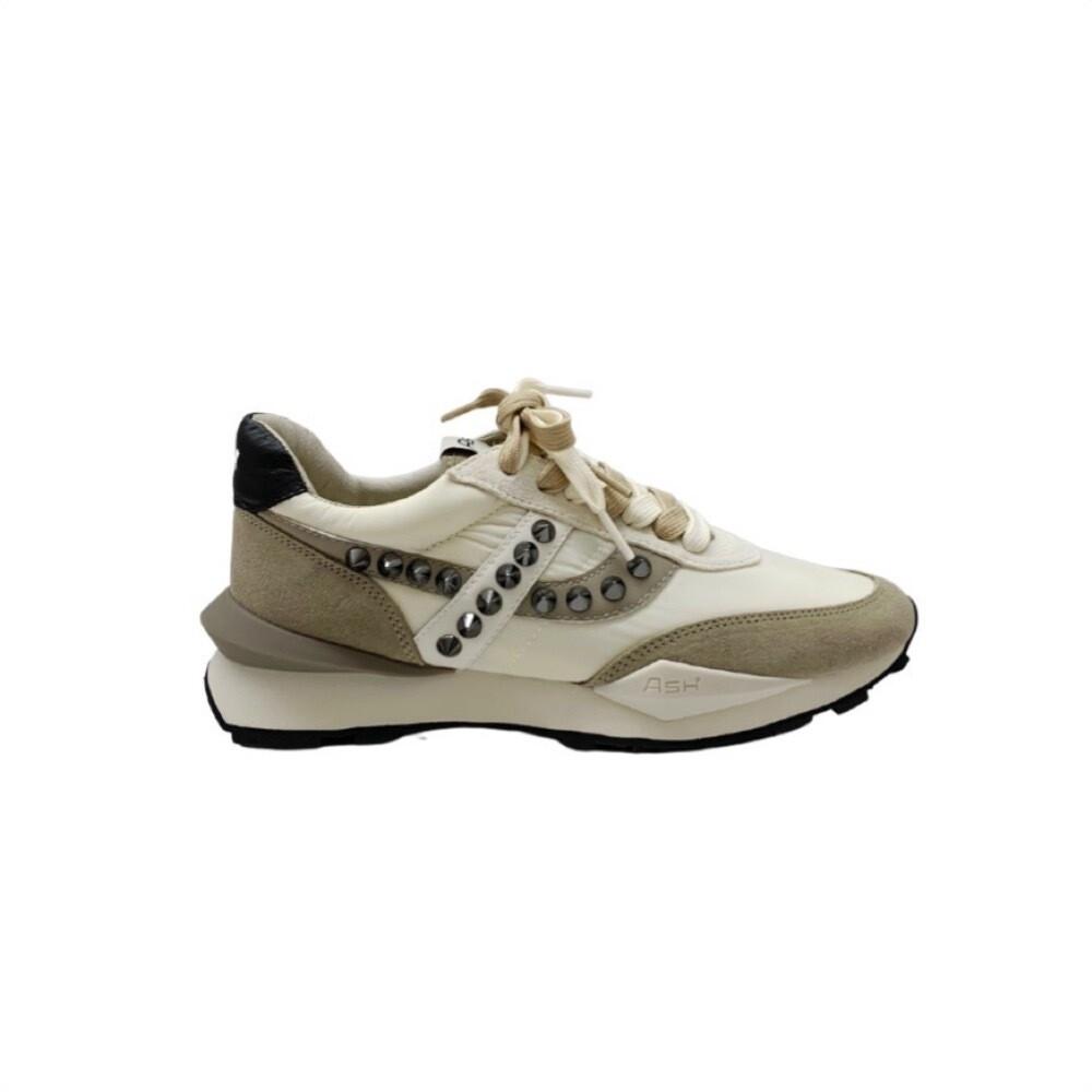ASH - Spider Studs Sneakers - Seta/White/Gardenia/Black