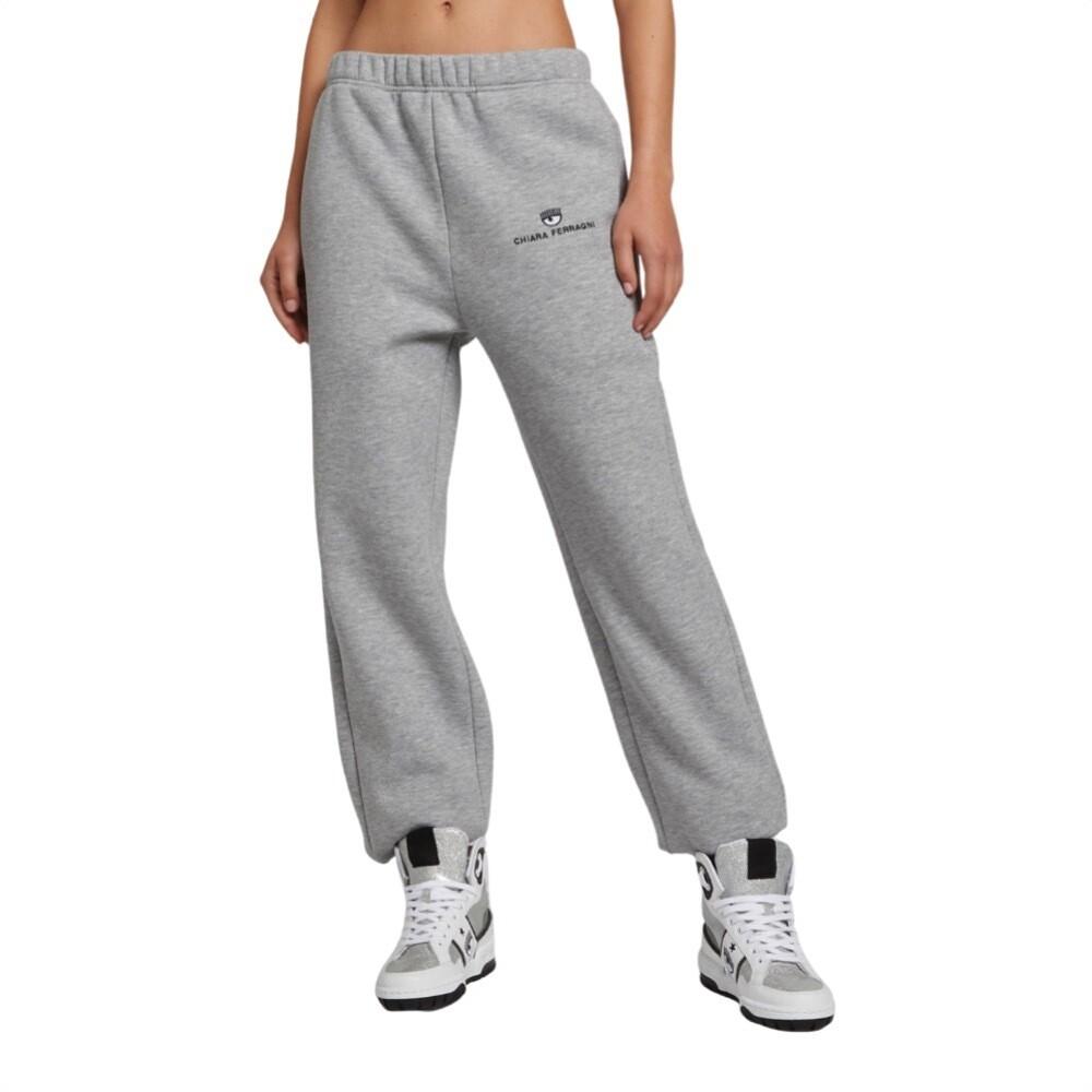 CHIARA FERRAGNI - Logo Basic pantaloni felpa - Grigio Perla