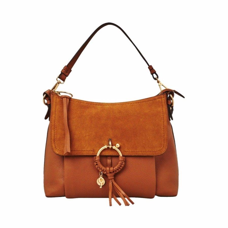 SEE BY CHLOÉ - Joan Medium Shoulder Bag - Caramello