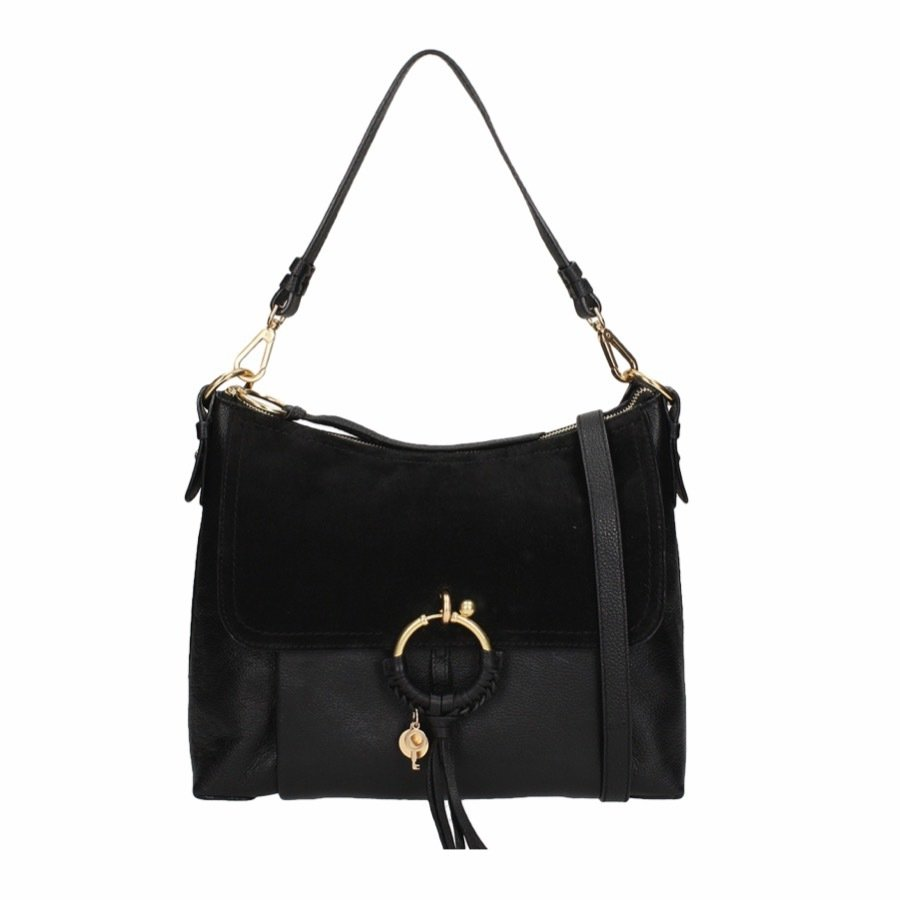 SEE BY CHLOÉ - Joan Medium Shoulder Bag - Black