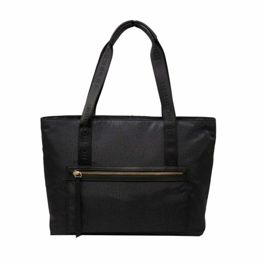 BORBONESE - Shopping orizzontale in Jet OP - Black
