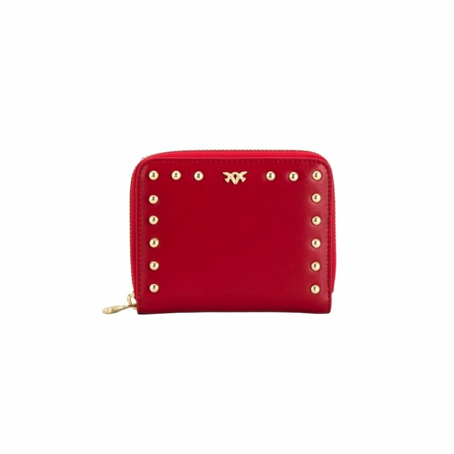 PINKO - Albenix Portafoglio Zip around medio - Red