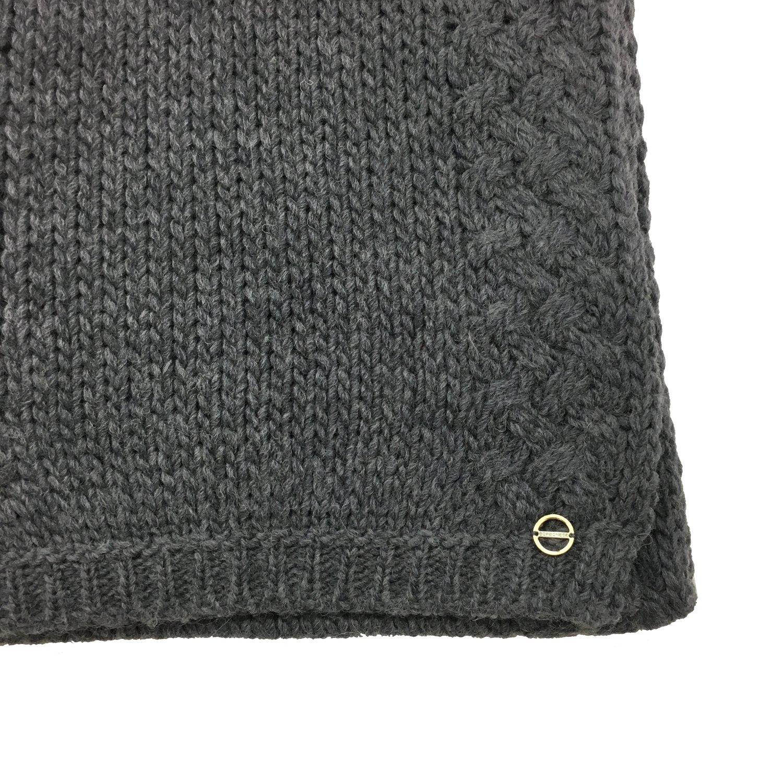 BORBONESE - Sciarpa filato misto lana - Grigio Scuro