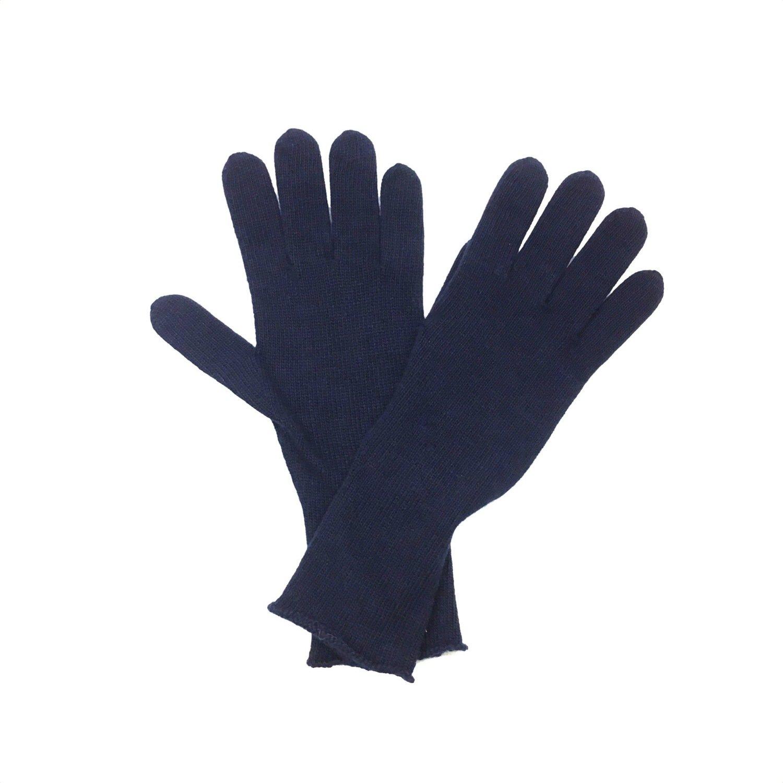 SERGIO DE ROSA - Guanto a maglia rasato - Blu