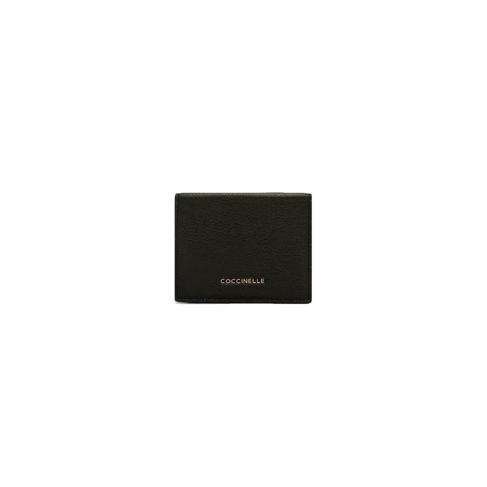 COCCINELLE - Metallic Soft Portafoglio piccolo - Noir