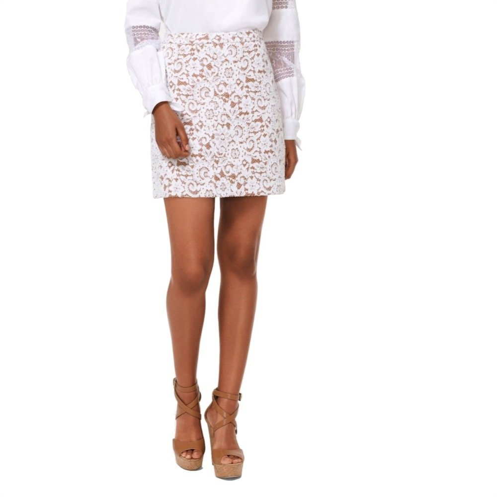 MICHAEL KORS - Minigonna in pizzo - White