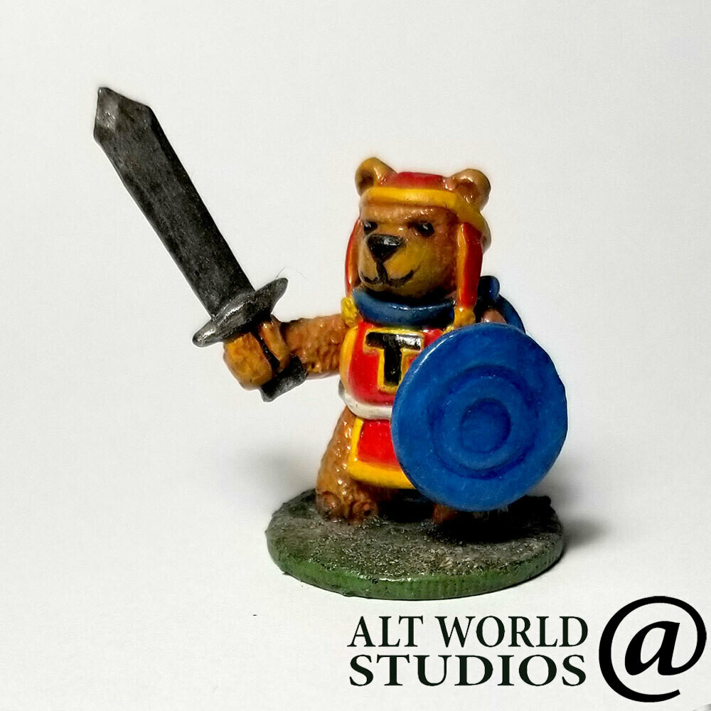 Limited Edition - Tristan The Teddy Bear Warrior Tabletop Gaming Miniature (28mm)