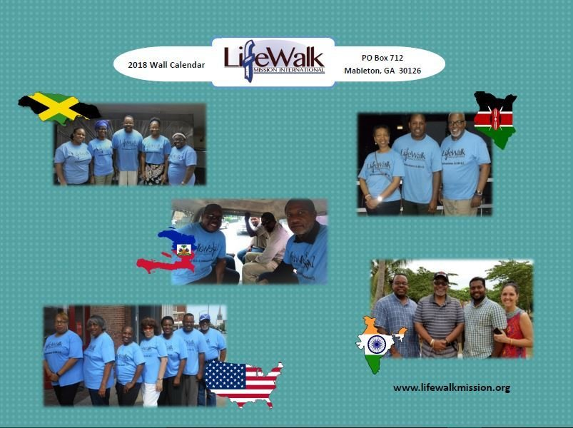 2018 LifeWalk Mission International Calendar