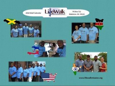 2018 LifeWalk Mission International Calendar