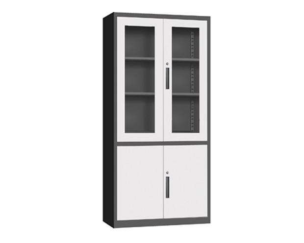 Ofix Glass & Metal Swing Door Steel Cabinet