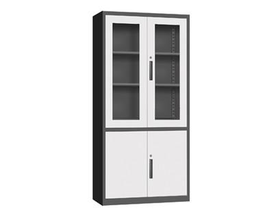 Ofix Glass & Metal Swing Door Steel Cabinet