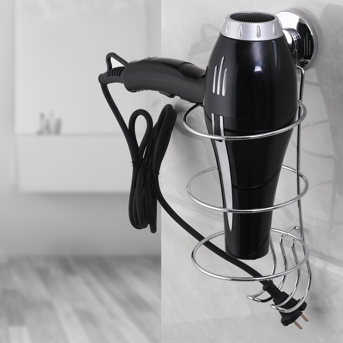 MYKE Suction Cup Hair Dryer Holder