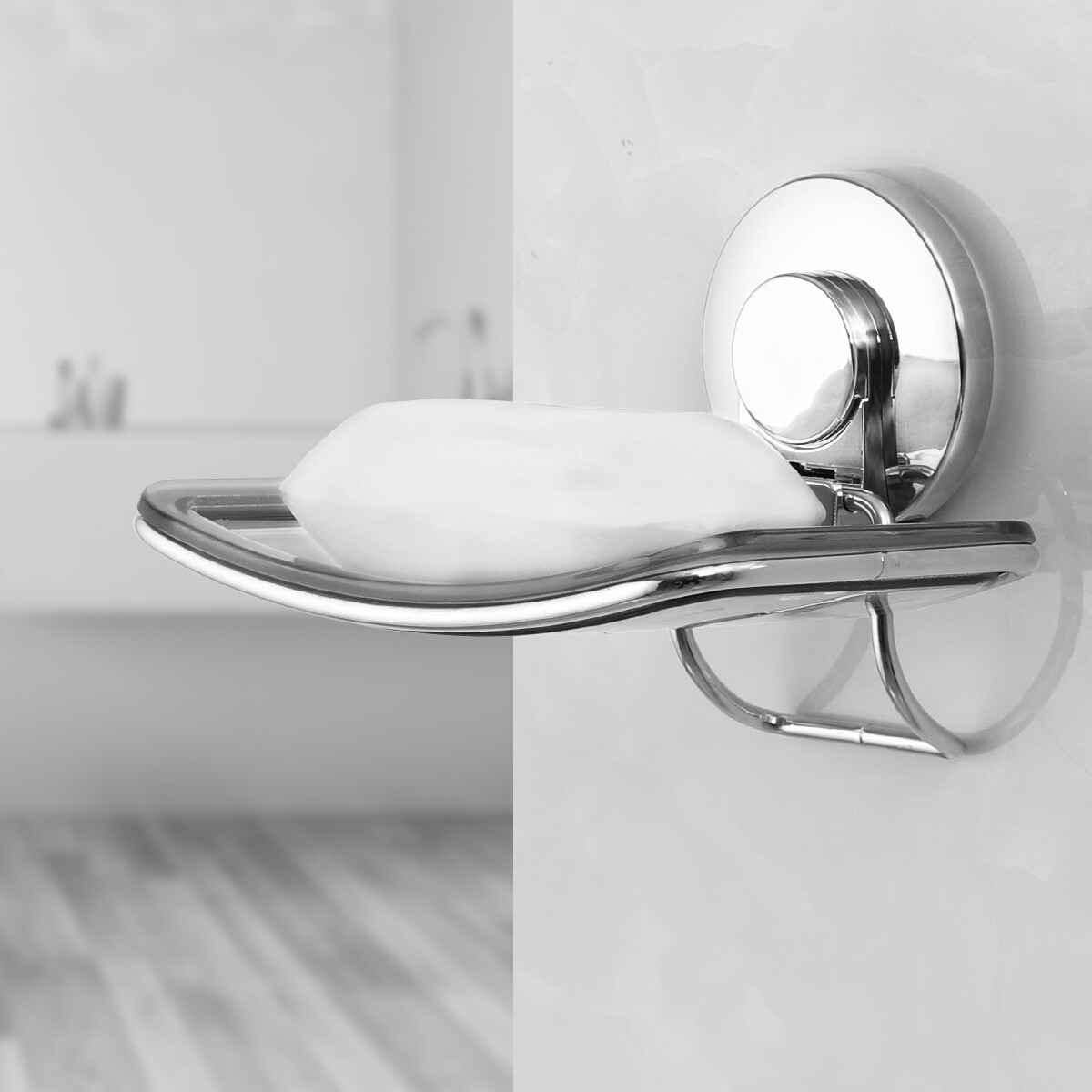 MYKE Suction Cup Soap Holder Clear