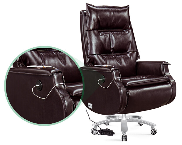 Ofix CEO-9 Battery Powered Reclining Office Chair (Brown)