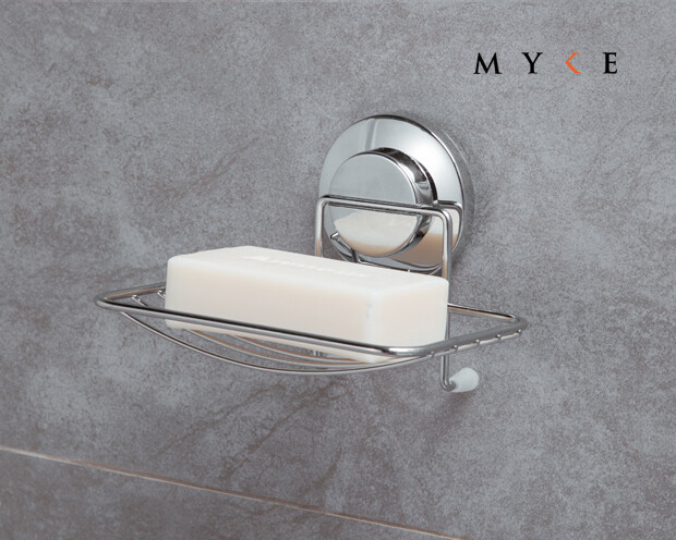 MYKE Suction Cup Soap Holder Chrome