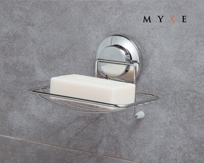 MYKE Suction Cup Soap Holder Chrome