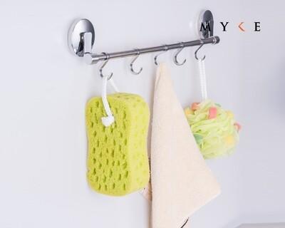 MYKE Suction Cup Towel Rack Chrome