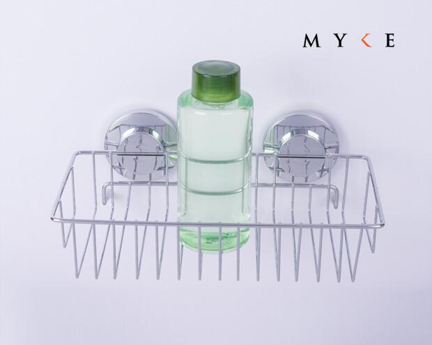 MYKE Suction Cup Shampoo Rack Chrome