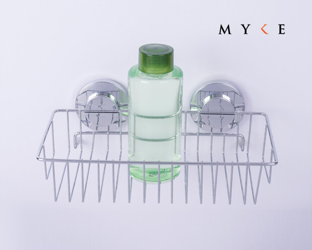 MYKE Suction Cup Shampoo Rack Chrome