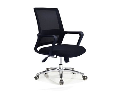 Ofix Deluxe-8 Mid Back Mesh Chair (Black, Blue, Red, Pink, Orange, White+Pink, White+Blue, All White)