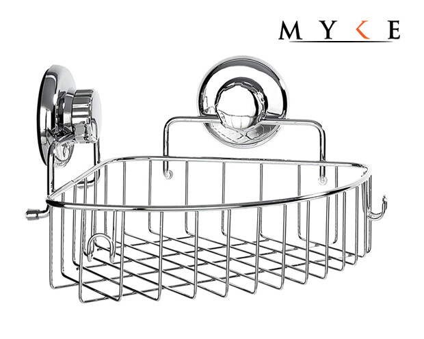 MYKE 73131B Suction Cup Corner Shelf