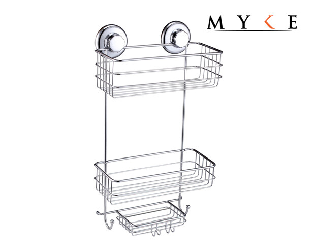 MYKE 73137 Suction Cup Corner Shelf