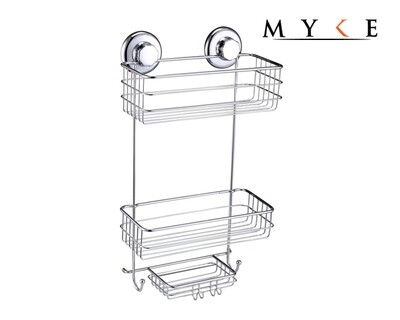 MYKE 73137 Suction Cup Corner Shelf